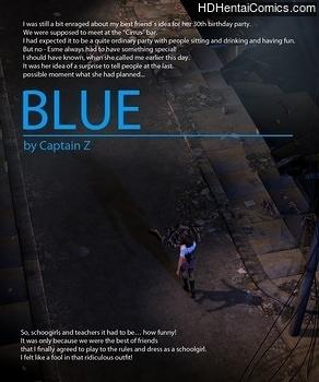 Blue porn comic