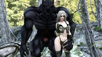 Fantasy Scene - Elf With Wolfman 002 top hentais free