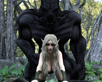 Fantasy Scene - Elf With Wolfman 007 top hentais free