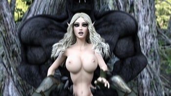 Fantasy Scene - Elf With Wolfman 011 top hentais free