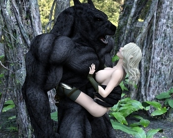 Fantasy Scene - Elf With Wolfman 013 top hentais free
