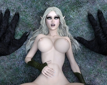 Fantasy Scene - Elf With Wolfman 014 top hentais free