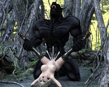 Fantasy Scene - Elf With Wolfman 016 top hentais free