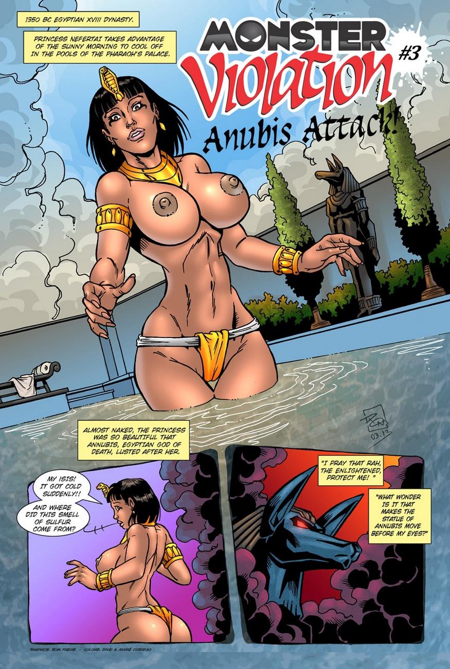 Anubis Porno monster violation 3 - anubis attack hentai comics porn | xxx